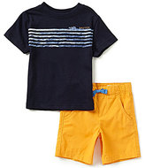 Nautica Little Boys 2T-4T Short-Sleeve Graphic Tee & Shorts Set