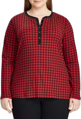 Chaps Plus Cotton Henley Shirt