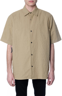 Acne Studios Beige Cotton Short Sleeve Shirt