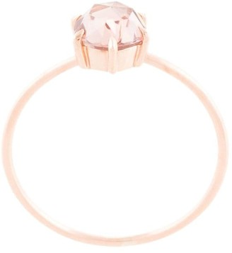 Natalie Marie Rose Cut Ring with Peach Zircon