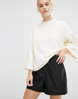 Monki Raw Edge Boxy Sweat Top