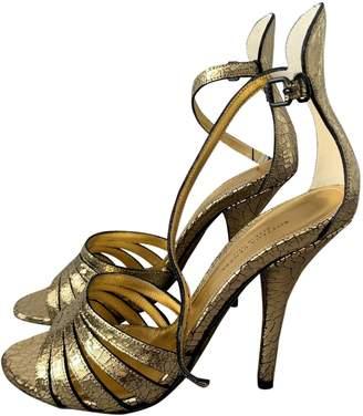 Bottega Veneta Gold Leather Sandals