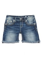 Miss Me Girl's Embellished Roll Cuff Shorts