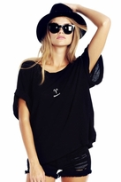Wildfox Couture Aries Astrology Boy Tee in Clean Black