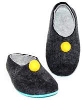 Organic Wool Pom Pom Clogs