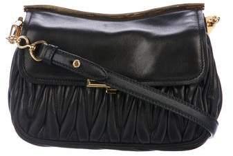 Miu Miu Leather Matelassé Crossbody Bag
