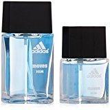 adidas Moves By For Men. Gift Set ( Eau De Toilette Spray 1.0 Oz + Eau De Toilette Spray 0.5 Oz )