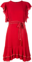 L'Autre Chose ruffled dress - women - Silk - 38