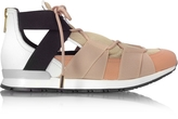 Vionnet White Leather and Multicolor Elastic Bands Sneakers