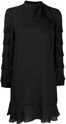 RED Valentino Ruffle Sleeve Mini Dress