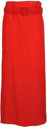 Prada Sheer Belted Maxi Skirt