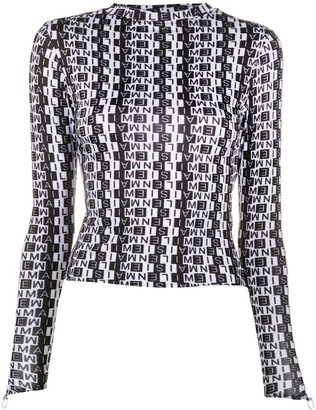 MAISIE WILEN Graphic-Print Long-Sleeved Top