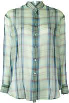 Etro plaid sheer shirt