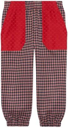 Gucci Children's Houndstooth cotton jogging bottoms