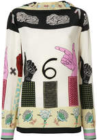 Valentino Counting Six blouse