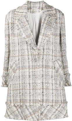 Alice + Olivia Stefan knitted coat