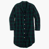 J.Crew Nightshirt in Black Watch flannel