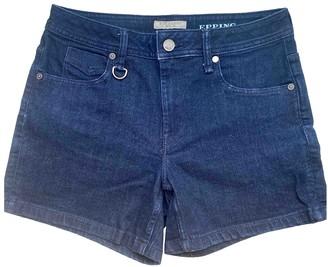 Burberry Navy Cotton - elasthane Shorts