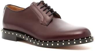 Valentino Garavani Rockstud Lace-Up Derby Shoes