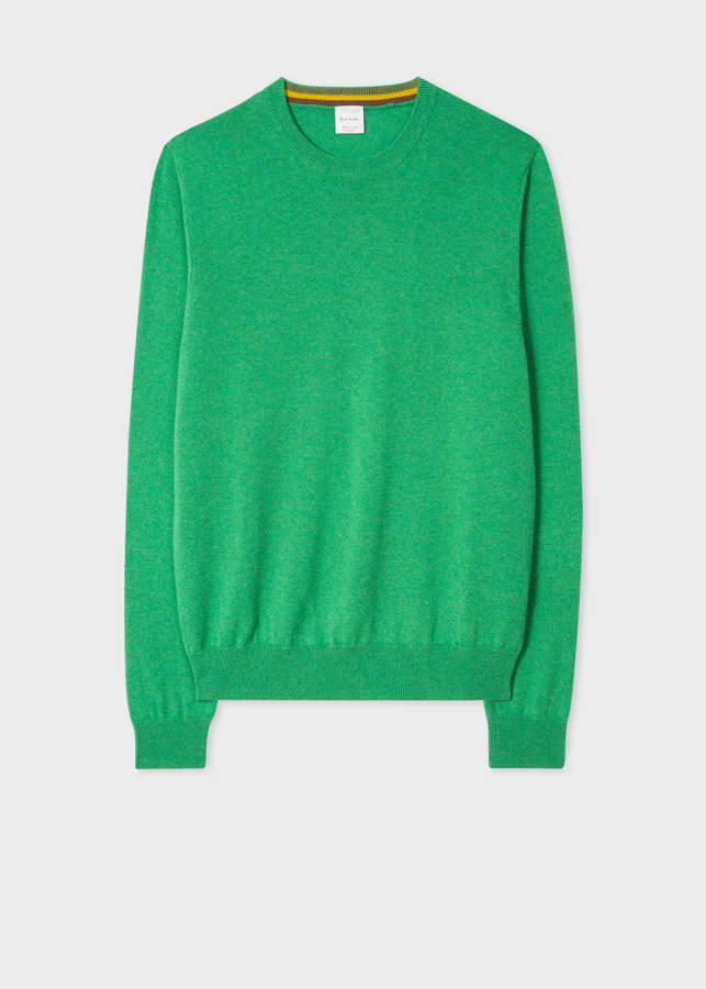 Paul Smith Men's Green Cashmere Sweater