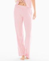 Soma Intimates Pajama Pants Relaxed Stripe Pink Icing