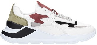 D.A.T.E Fuga Sneakers In White Suede And Fabric