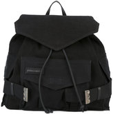 DSQUARED2 military backpack - women - Cotton/Linen/Flax/Calf Leather - One Size