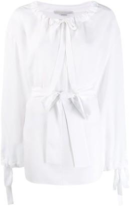 Stella McCartney tie waist loose-fit blouse