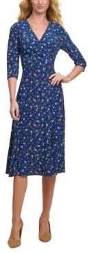 Tommy Hilfiger Printed Midi Dress