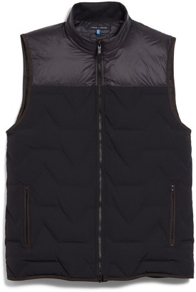 Quilted Mixed-material Vest