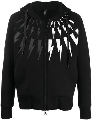 Neil Barrett lightning print hoodie