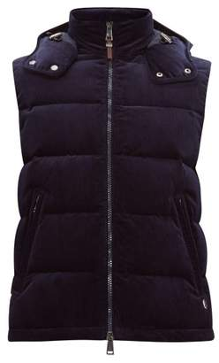 Ralph Lauren Purple Label Cotton Blend Corduroy Hooded Gilet - Mens - Navy