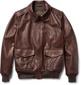 Schott - A-2 Full-grain Leather Bomber Jacket
