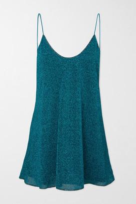 Oseree Lumiere Lurex Mini Dress - Teal