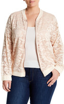 Hip Lace Bomber Jacket (Plus Size)