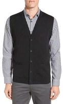 John W. Nordstrom V-Neck Wool Button Front Sweater Vest