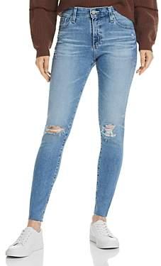 AG Jeans Farrah High-Rise Skinny Jeans in 24 Years Stark Destructed