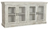 Aloisio Sideboard with Iron Mesh Insets One Allium Way