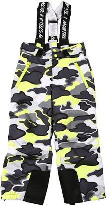 Stella Mccartney Kids Camo Print Nylon Ski Pants W/Suspenders