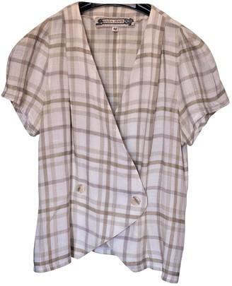 Krizia Beige Linen Jacket for Women