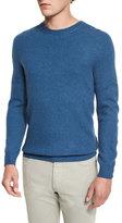 Ermenegildo Zegna Seamless Yak Crewneck Sweater, Aqua