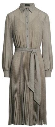 Lauren Ralph Lauren Ralph Lauren Herringbone Georgette Shirtdress
