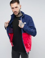 Penfield Barnes Two Tone Jacket Concealed Hood In Navy/red