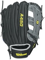 "Wilson Youth Advisory Staff Yasiel Puig Baseball Glove, 12"" - Right Hand Throw - Black/Grey"
