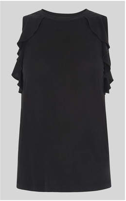 Whistles Cupro Frill Detail Vest
