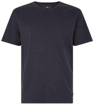 7 For All Mankind Cotton Slub T-Shirt