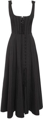Brock Collection Flamed Cotton Blend Midi Dress
