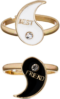 Accessorize 2x BFF Yin Yang Rings