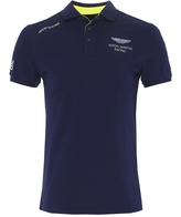 Slim Fit Aston Martin Racing Contrast Hem Polo Shirt