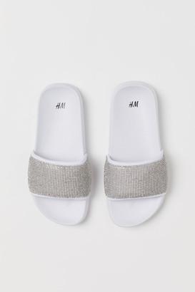 H&M Rhinestone-covered pool shoes